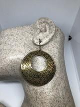 Vintage Bronze Hoop Earrings - $34.65