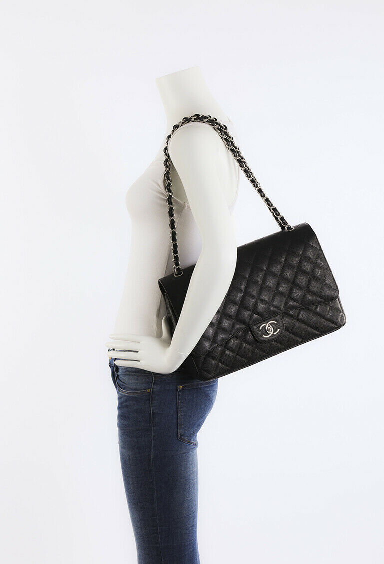 Chanel Quilted Caviar Maxi Classic Double Flap Bag