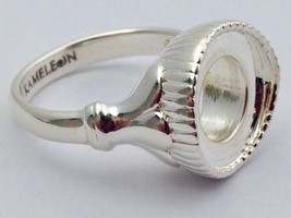 Authentic Kameleon Pedestal Sterling Silver Ring Kr-39 Kr039 Size 6, New - $47.49