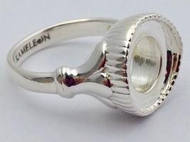 Authentic Kameleon Pedestal Sterling Silver Ring Kr-39 Kr039 Size 6, New - $47.49