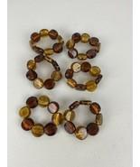 Amber Stone Napkin Rings Set of 8 - $98.99