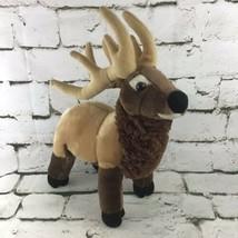 Wild Republic Bull Elk Plush Brown Stuffed Forest Animal Wildlife Nature Toy  - $14.84