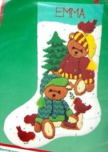 Dimensions Two Bears Teddy Christmas Longstitch Needlepoint Stocking Kit... - $99.95