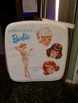 RARE 1963 Mattel Fashion Queen Barbie Doll Vinyl Carrying Case PREOWNED - $44.37