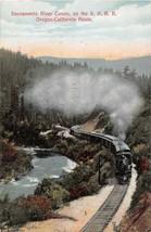 Southern Pacific Railroad Train Sacramento River Canyon OR CA Route post... - $6.44