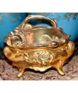 Antique Art Nouveau Footed Jewelry Casket Hinged Box WB Mfg Co Weidlich ... - $79.99