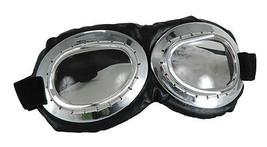 Glasses Aviator Goggles Bk/Clr Adult Unisex Costume Accessories - £10.82 GBP