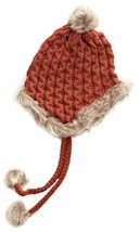 Bench Hough Red Beanie w Tassels Faux Fur Winter Ski Hat BLWA0346 NWT image 2
