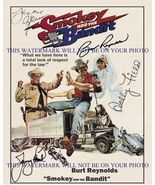 SMOKEY AND THE BANDIT CAST SIGNED AUTOGRAPHED 8x10 RP PROMO PHOTO BURT R... - $17.81