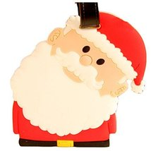 Set of 2 [Santa Claus] Cute Luggage Tags Silicone Name Tags Unique Baggage Tags