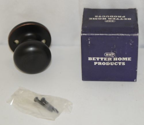 Better Home Products 92911DB Mushroom Knob Handleset Trim Dark Bronze