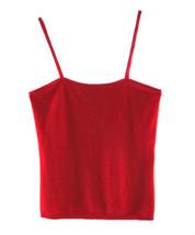 Ralph Lauren Purple Label Red Cashmere & Satin Camisol Sweater Top  - $78.00