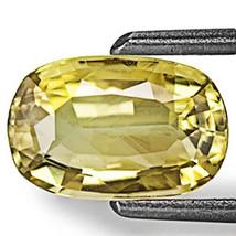 SRI LANKA Chrysoberyl 1.28 Cts Natural Untreated Vivid Yellow Oval - $192.00