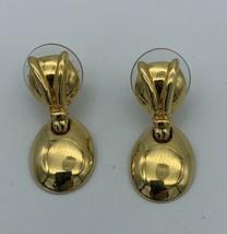 Pretty~Vintage~Monet Signed~Gold Tone~Pierced~Dangle Earrings - $19.80