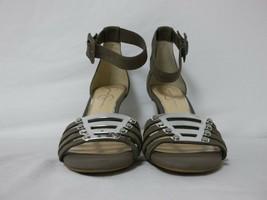Jessica Simpson 8.5 M Masullo Grey Leather Open Toe Heels New Womens Sho... - $88.11