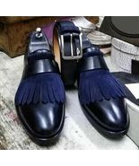 Handmade Men's Round Toe Fringes Moccasin Dress Leather Suede Shoes - $159.97+