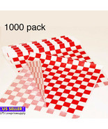 """1000/Pack 12"""" x 12"""" Red Check Deli Sandwich Wrap Paper wrapping sandwiches - $34.64"""
