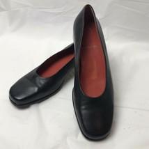 Rockport Black Leather Flats Women 7.5 - $19.79