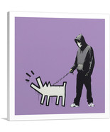 ARTCANVAS Choose Your Weapon Keith Haring Dog - Purple Canvas Art Print ... - $41.99+