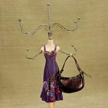 "Fashionista Jewelry Hanger Display 15"" Figurine w/ 6 Hooks Purple Sundre... - $18.60"