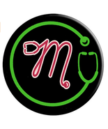 Monogram M with Stethoscope - Doctors Nurses Veterinarians - PopSockets ... - $15.00