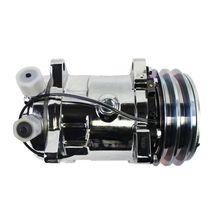 A-Team Performance Sanden 508 Style Silver Clutch V-Belt A/C Compressor, Chrome image 8
