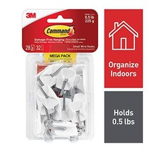 Command Wire Hooks, White, Indoor Use 17067-MPES