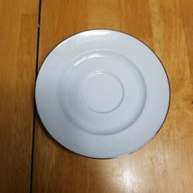 Johann Haviland Morning Mist Saucer ONLY White with White Floral & Scrolls - $2.23