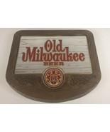 OLD MILWAUKEE BEER Mirror Bar Sign Plastic W/ Wood Look Frame Vintage 19... - $69.69