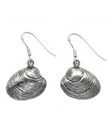 Sterling Silver Quahog Shell Wire earrings - $31.95