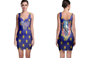 Wonder woman emblem bodycon dress