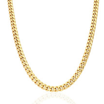 """10k Solid Yellow Gold Hollow 7.5mm Miami Cuban Chain Necklace 24"""" 26"""" 28"""" - $1,552.50+"""