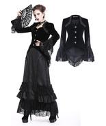 Black Velvet Victorian Gothic Bell Sleeved Tailcoat Goth Jacket Spring F... - $69.27