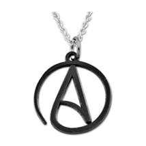 "EvolveFish Circle Atheist Black Necklace - 1"" Diameter - $29.36"
