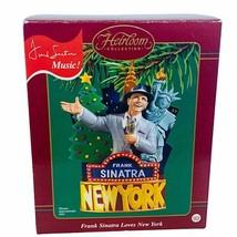 Carlton Cards Christmas ornament Frank Sinatra New York singing musical NIB box - $49.45