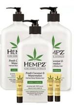 Hempz 3 pack Fresh Coconut & Watermelon Body Moisturizer 17 oz + 3 Lip balm set - $37.97