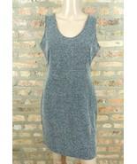 GAP Gray Textured Zig Zag Herringbone Jersey Knit A-line Career Fall Dre... - $15.00