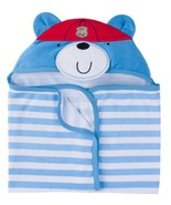 GERBER Terry HOODED Baby Bath WRAP / TOWEL Cotton Blend FIRE CHIEF ~ New - $14.95
