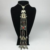 "142g, 22"" Turkmen Necklace Pendant Long Necktie Old Vintage Gold-Gilded,TN383 - $79.20"