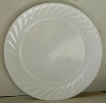 "Corelle Corning Ware ENHANCEMENTS White Swirl 10.25"" Dinner Plates - Lot... - $24.00"