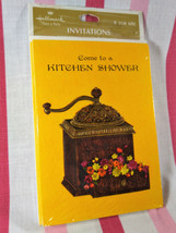 Sweet Vintage NEW OLD Stock Hallmark Kitchen Shower Invitations 8 Sealed - $6.00