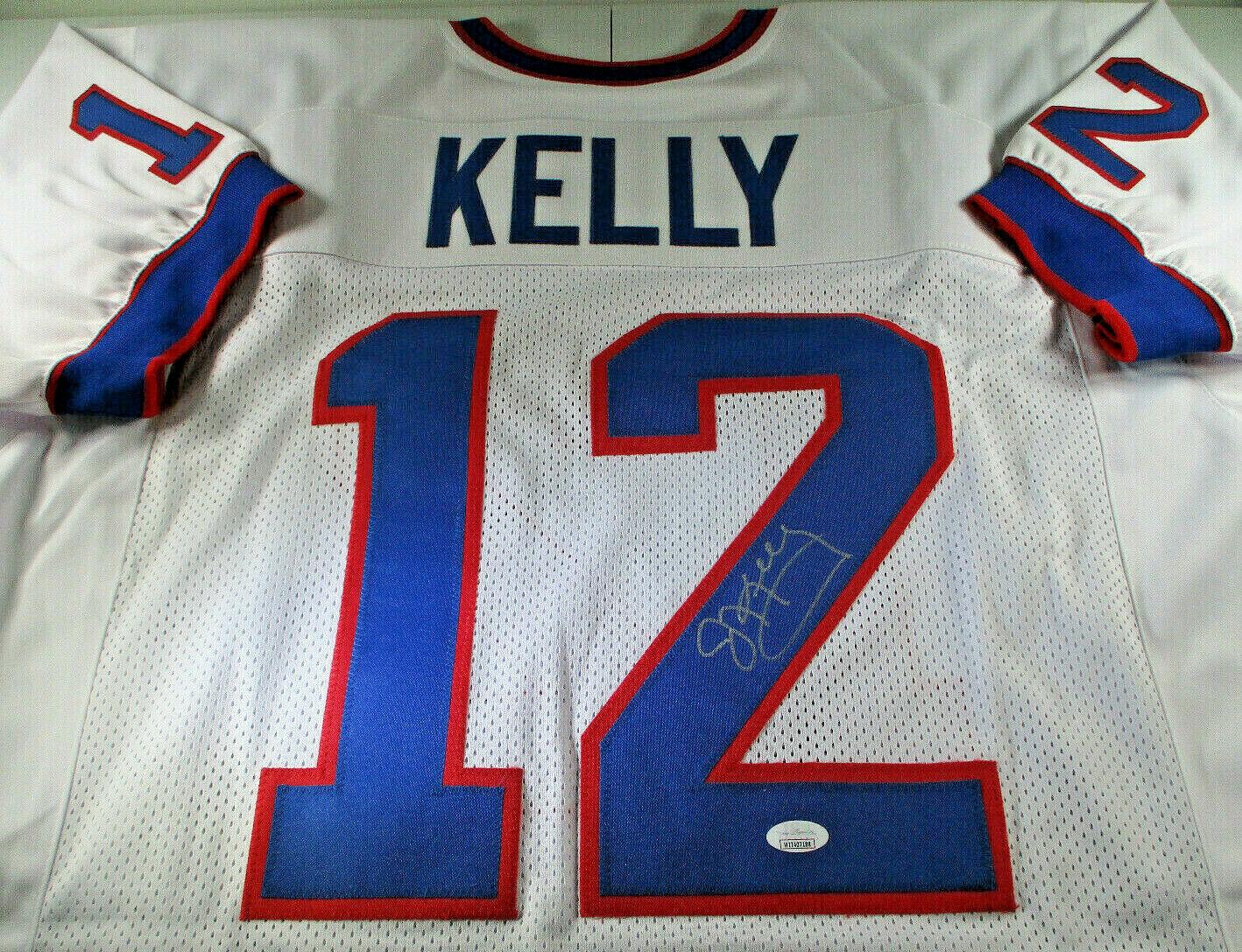 JIM KELLY / NFL HALL OF FAME / AUTOGRAPHED BUFFALO BILLS CUSTOM JERSEY / JSA