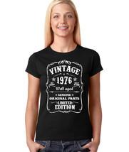 1976 Women's  Birthday Gift T-shirt 1976 Birthday Born In 1976 Birthday Tee - $10.99