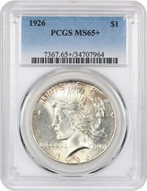 1926 $1 PCGS MS65+ - Peace Silver Dollar - $679.00