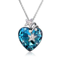 Womens Infinity Love Heart Made with Swarovski Elements Crystal Pendant - $58.80