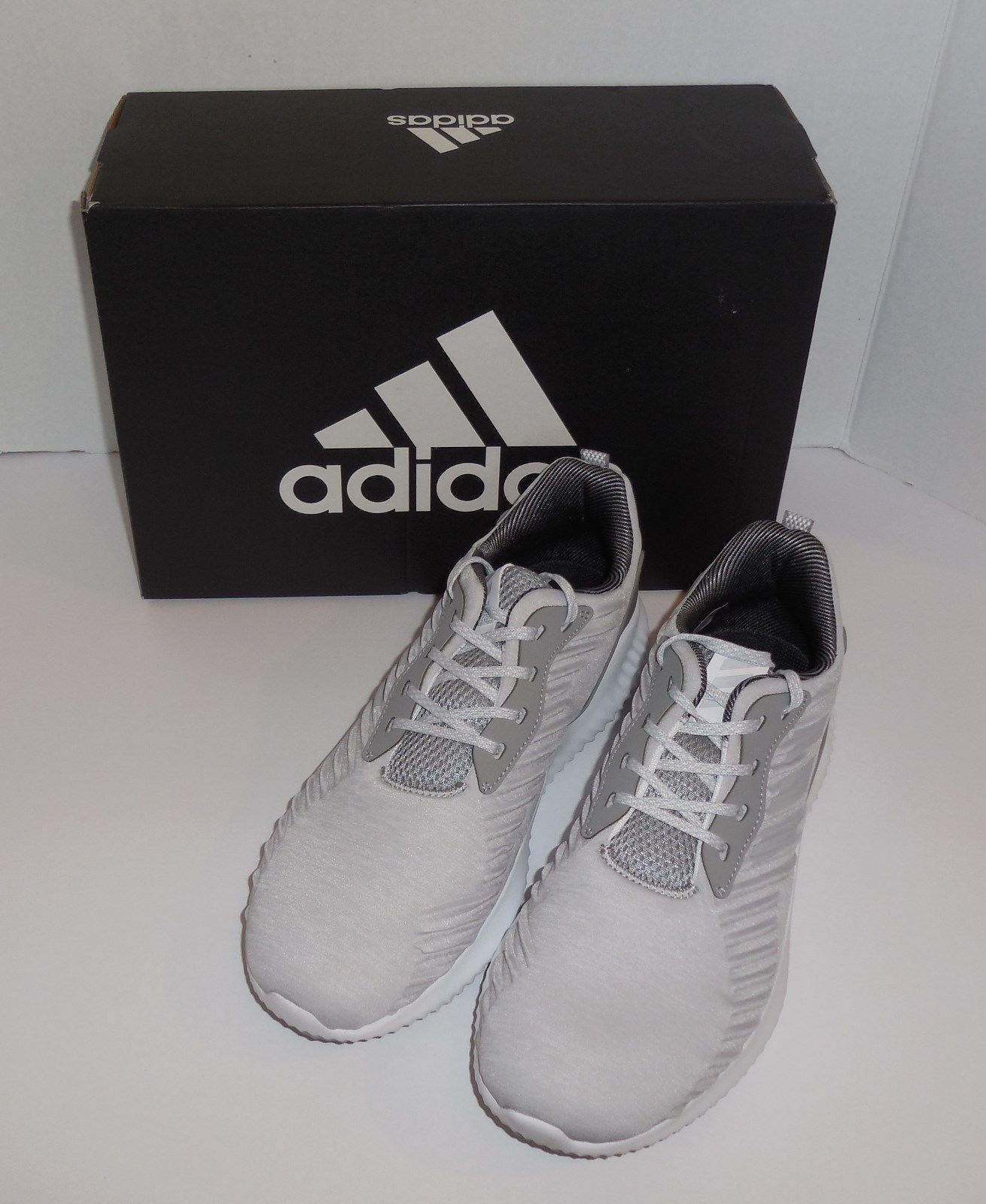 aaa9636b7714a Adidas Alphabounce RC Mens 9.5 Sneakers Running Shoes Light Grey B42865 New