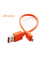2X 20cm Micro USB Fast Charge Flat Cable Cord for JBL Flip 3 4 Pulse 2 3... - $8.60