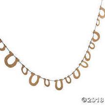 Gold Glitter Horseshoe Garland - $11.50