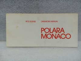 DODGE MONOCO POLARA    1972 Owners Manual 16347 - $18.76