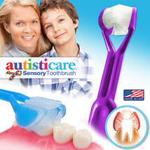 Autisticare 3-Sided Toothbrush | Easily Brush Better | Autism Spectrum Autistic - $5.95